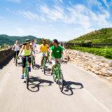 Fahrradtour in der Wachau entlang der Weinberge